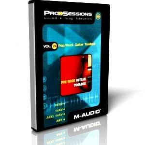 مجموعه لوپ گیتار الکتریک M-Audio Pro Sessions Vol 24 Pop Rock Guitar Toolbox