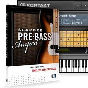 خرید اینترتی وی اس تی گیتار بیس الکتریک Native Instruments Scarbee Pre-Bass Amped